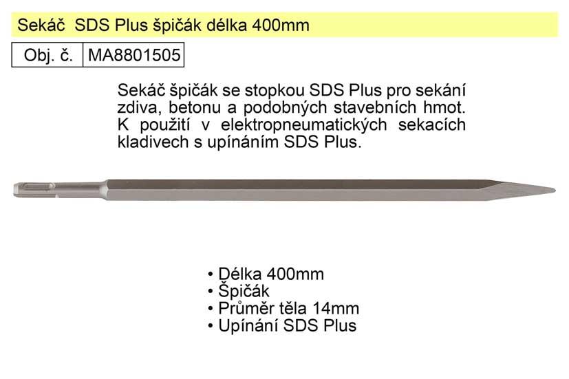 Sekáč SDS Plus špičák 400mm Nářadí 0.457Kg MA8801505