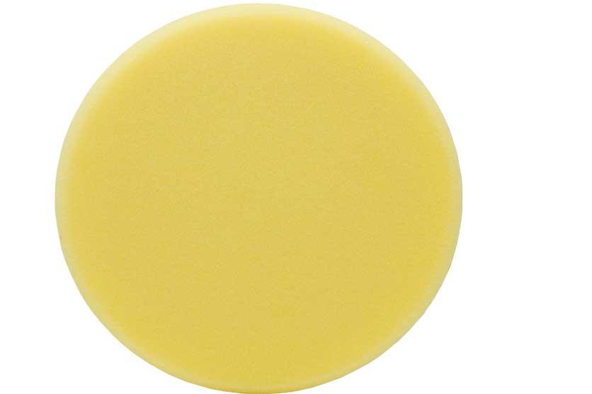 Kotouč leštící pěnový T80, žlutý, 150x30mm, suchý zip