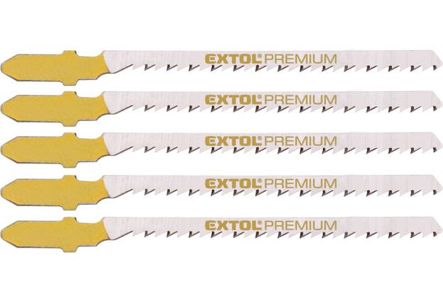 Listy pro přímočarou pilu, úchyt EU, 75x2,5 mm, na dřevo, broušené, křivkový řez,  Extol