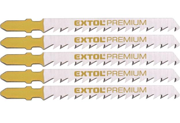 Listy pro přímočarou pilu, úchyt EU, 75x4,0mm, na dřevo, broušené, rychlý řez, Extol