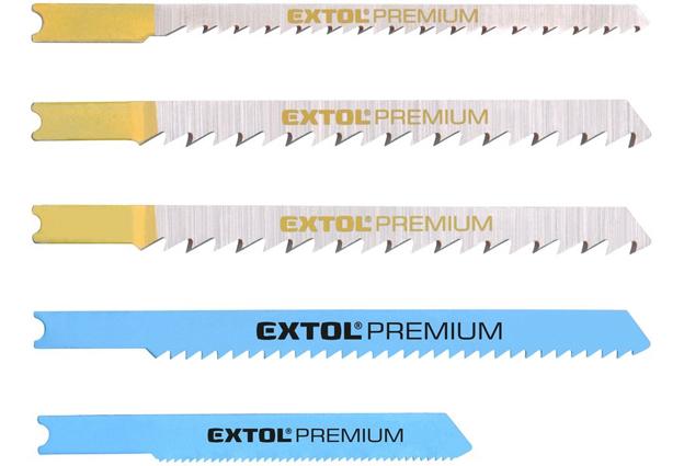 Listy pro přímočarou pilu, úchyt UNIVERÁL , mix 5 druhů, Extol Premium