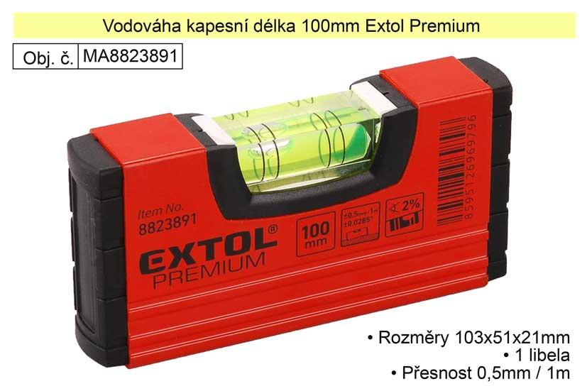 Vodováha kapesní délka 100mm Extol Premium 8823891