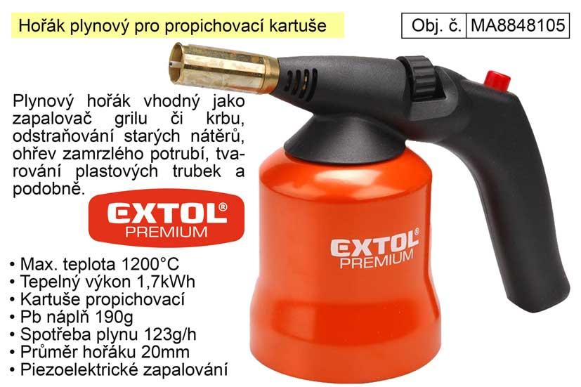 Hořák plynový Extol Premium pro propichovací kartuše