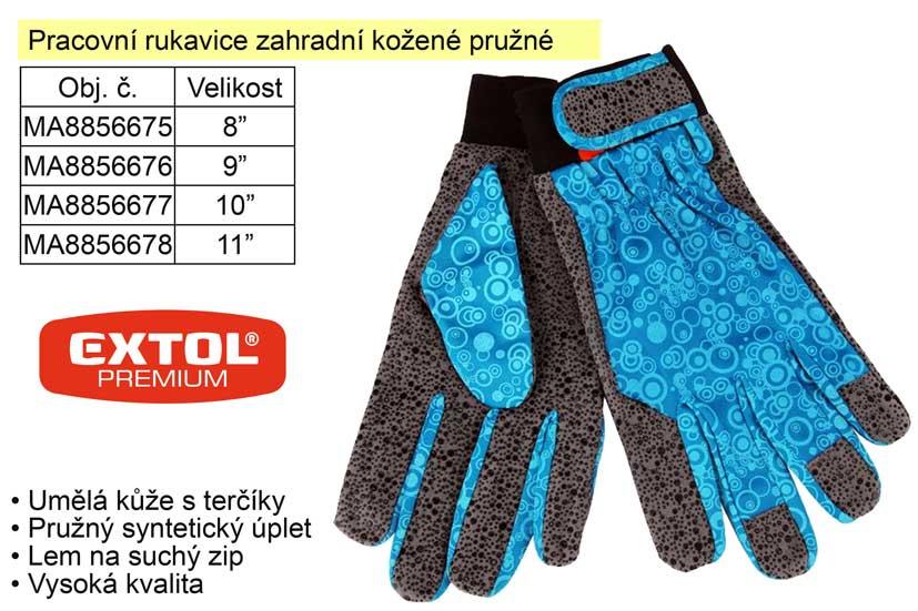 """Pracovní rukavice kožené pružné velikost  9"""" - 8856676"""