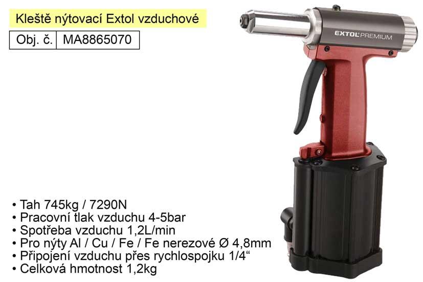Kleště nýtovací Extol Premium vzduchové tah  745kg ( 8865070 )