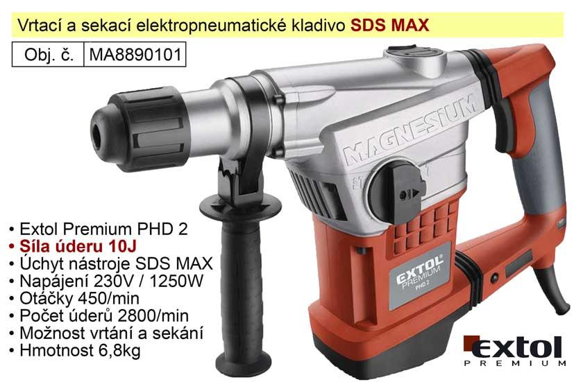 Kladivo vrtací a sekací SDS MAX Extol Premium 8890101