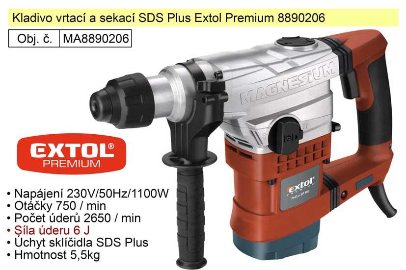 Kladivo vrtací a sekací SDS Plus Extol Premium 8890206