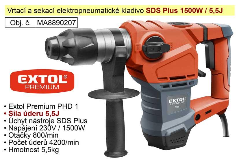 Kladivo vrtací a sekací SDS Plus Extol Premium PHD 1 8890207 Nářadí-Sklad 2 | 8 Kg