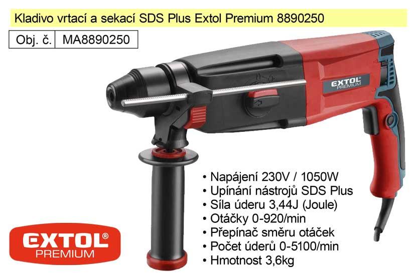 Kladivo vrtací a sekací SDS Plus Extol Premium 8890250