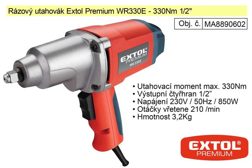 "Rázový utahovák elektrický Extol Premium 330 Nm 1/2"" MA8890602"