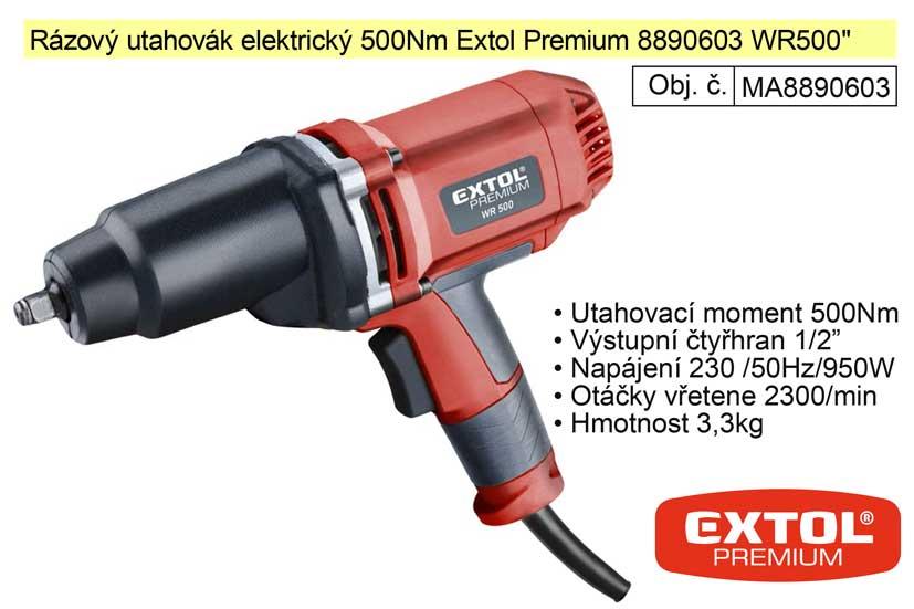 Rázový utahovák elektrický 500Nm Extol Premium 8890603 WR500
