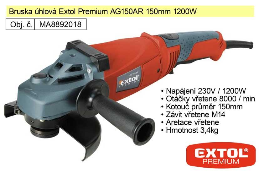 Bruska úhlová Extol Premium AG 150 AR 150 mm 1200 W