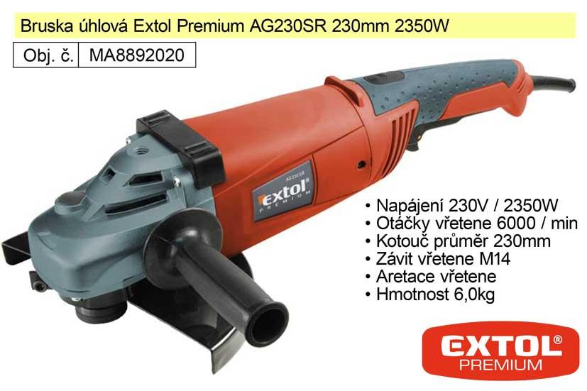 Bruska úhlová 230 mm 2350 W Extol Premium 8892020