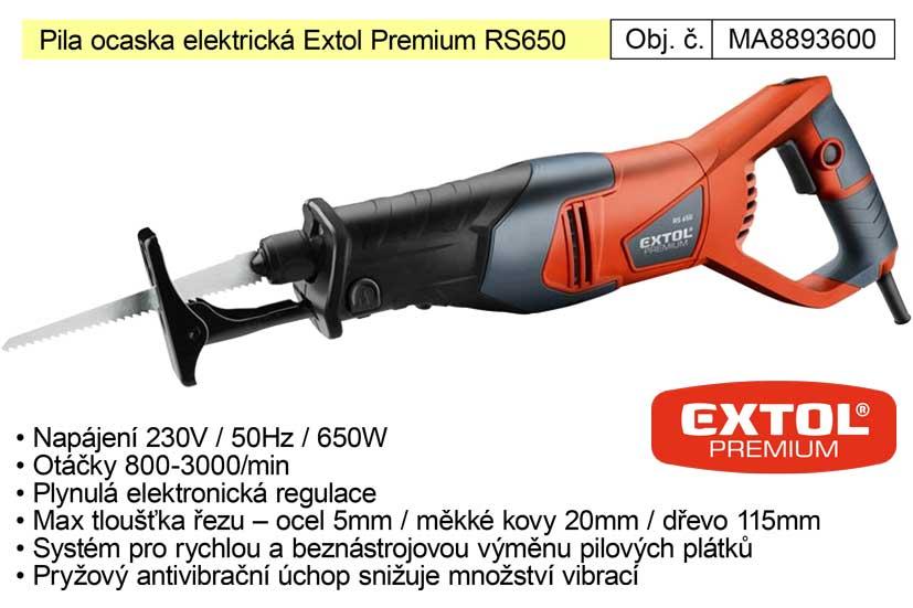 Pila ocaska elektrická Extol Premium 8893600 RS650 Nářadí 3.36Kg MA8893600