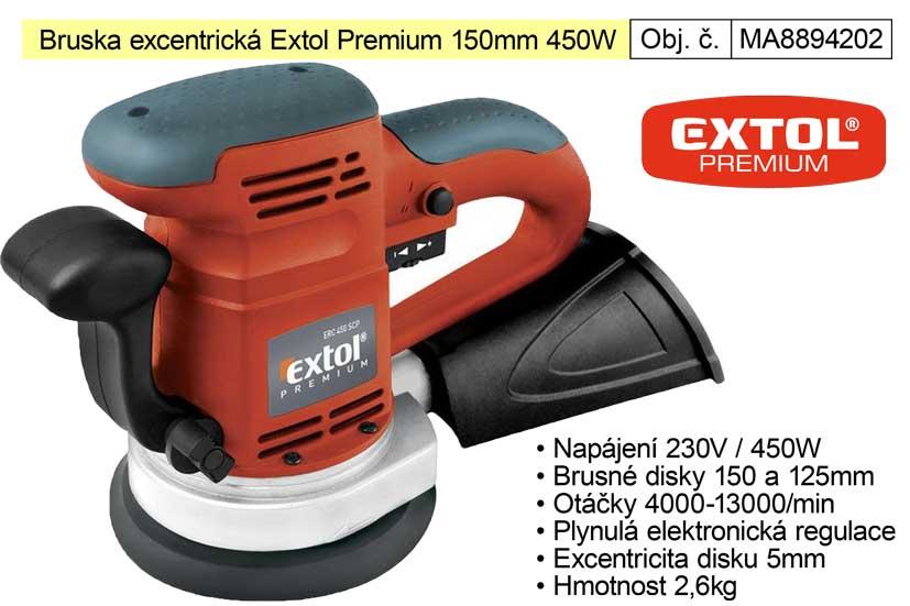 Bruska excentrická 150 mm 450 W Extol Premium 8894202 Nářadí-Sklad 2 | 3,133 Kg