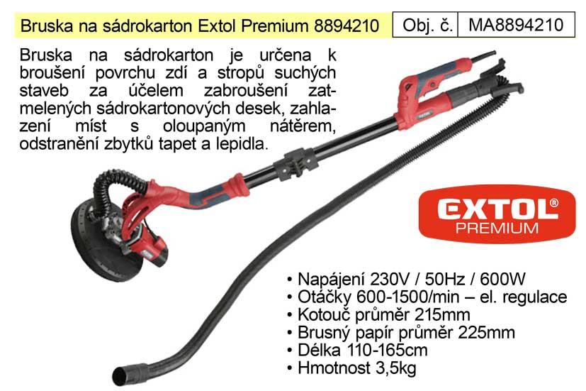 Bruska na sádrokarton 600 W  Extol Premium 8894210