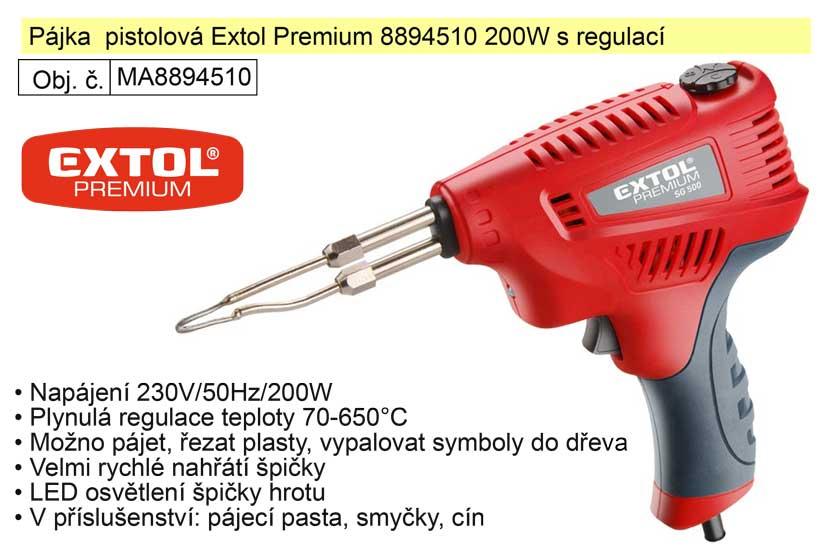 Pájka  pistolová Extol Premium 8894510 200W s regulací
