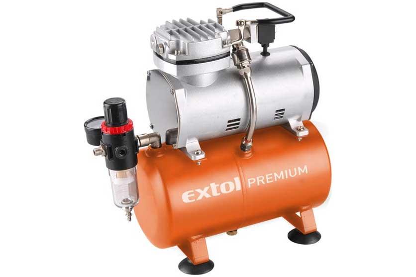 Kompresor Extol Premium pro stříkací pistole airbrush s tichým chodem