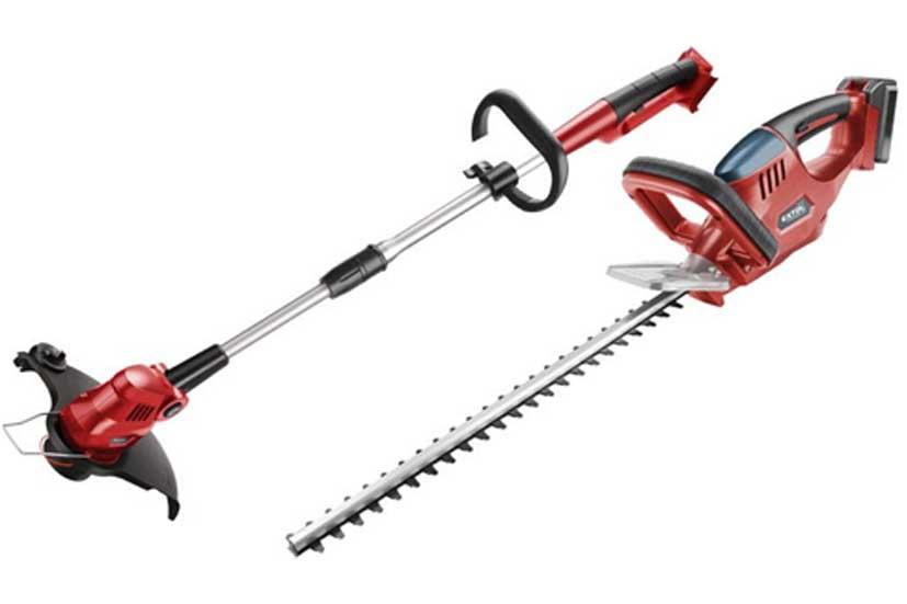 Aku nůžky na živé ploty a strunová sekačka  18 V / 1500 Ah  Li-On Extol Premium 8895620