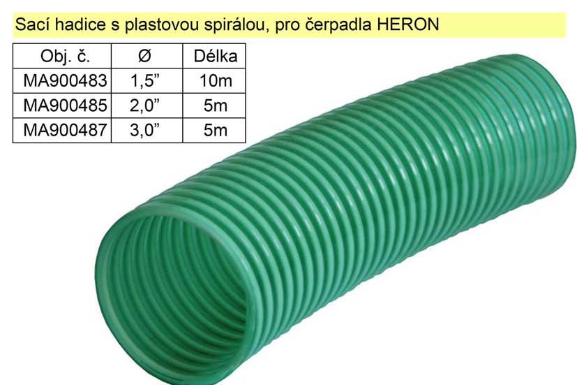"""Hadice sací 2"""" s plastovou spirálou délka 5m"""