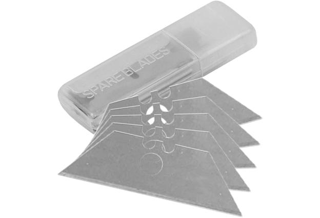 Náhradní břity pro žiletkové nože, rozměr 19 x 61 mm, sada 5 kusů, Extol Craft