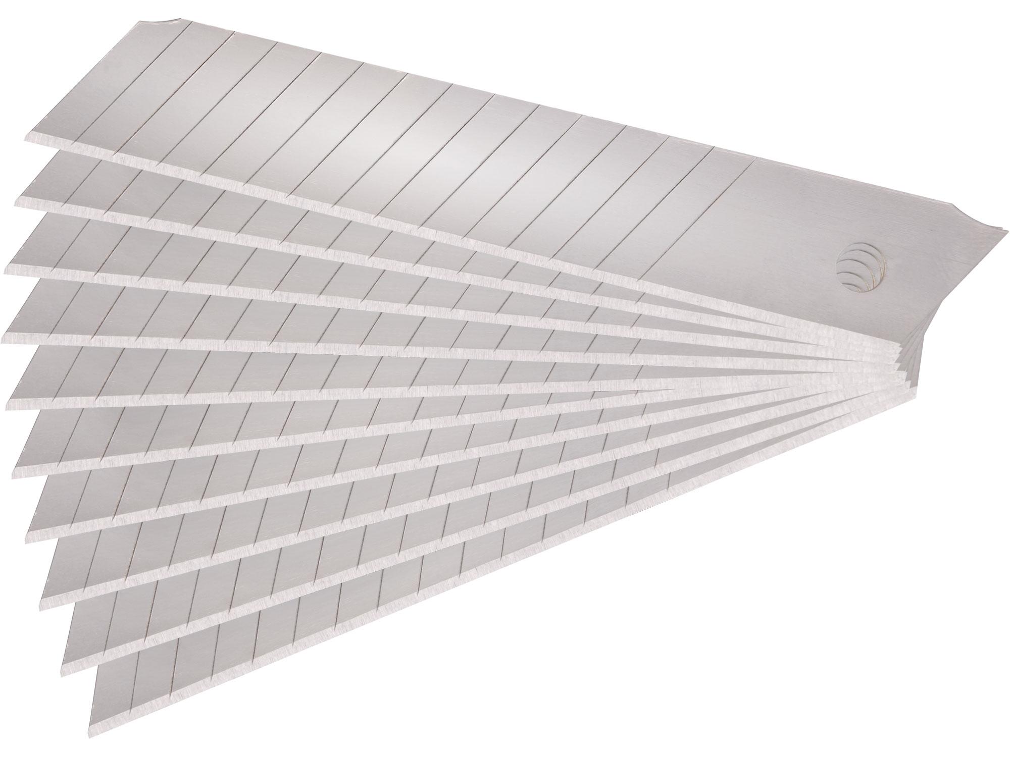Náhradní břity pro ulamovací nože, šíře 18 x  0,50 mm, 10 kusů, Etol Premium