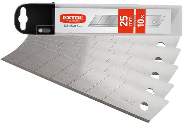 Náhradní břity pro ulamovací nože, šíře 25 x  0,70 mm, 10 kusů, Etol Premium
