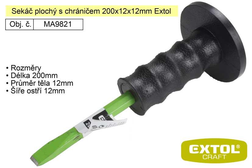 Sekáč plochý s chráničem 200x12x12mm Extol Craft 9821
