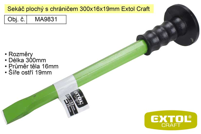 Sekáč plochý s chráničem 300x16x19mm Extol Craft 9831
