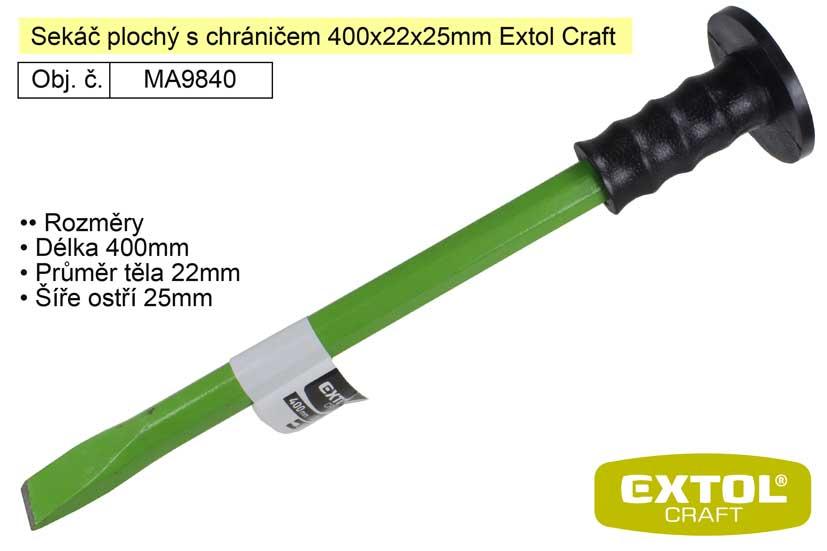 Sekáč plochý s chráničem 400x22x25mm Extol Craft 9840