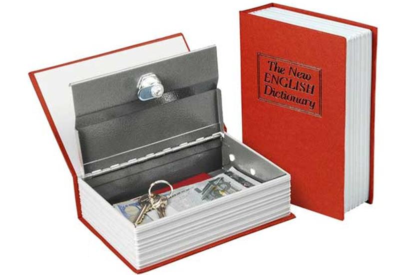 Schránka bezpečnostní – kniha, velikost 265 x 205 x 54 mm, Extol Craft