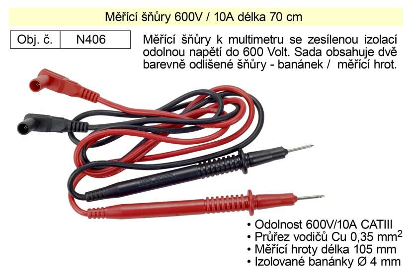 Měřící šňůry  600V/10AKg N406