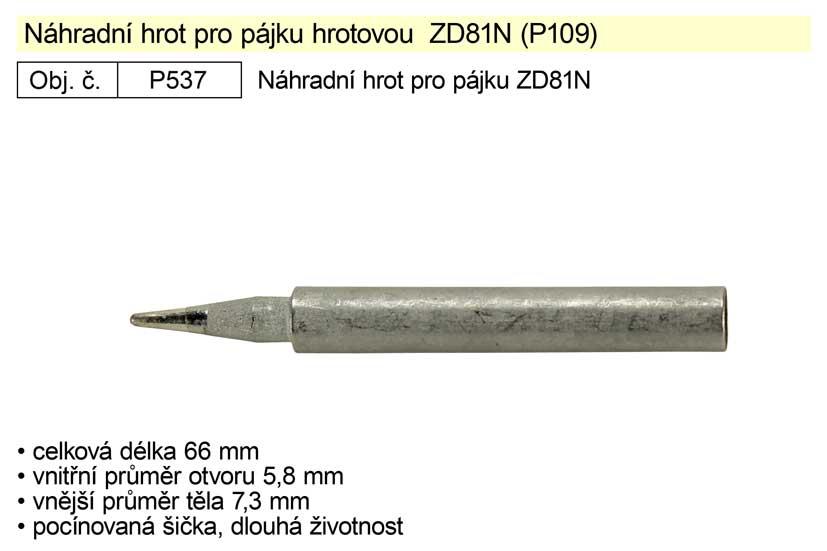 Náhradní hrot pro pájky  YT- 82455 a ZD81N