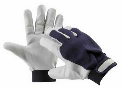 PELICAN BLUE - pracovní rukavice kozinka kombinované velikost 8
