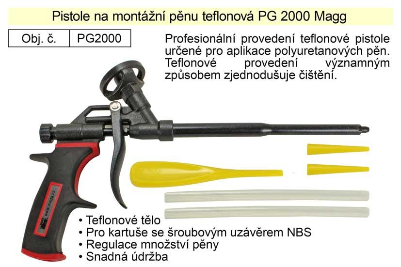 Pistole na montážní pěnu teflonová PG2000
