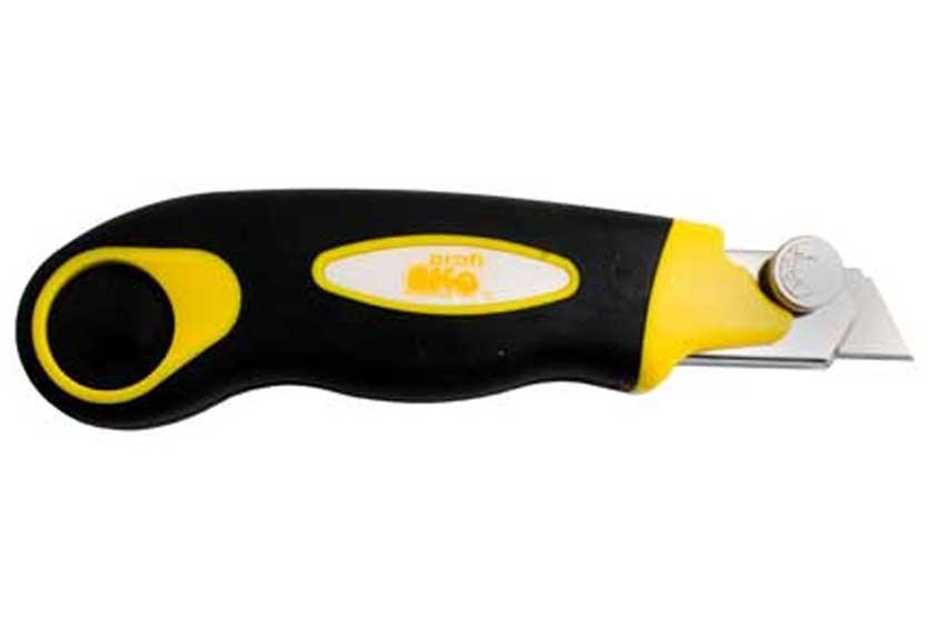 Nůž žiletkový, ulamovací, šíře 18 mm, s kovovou výztuhou zásobníkem čepelí, Maag