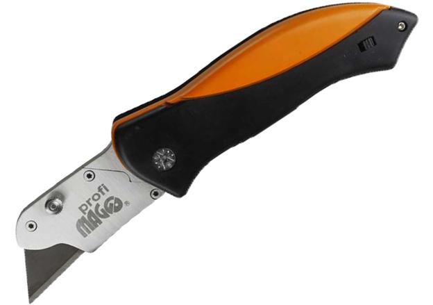 Nůž žiletkový, zavírací, se zásobníkem čepelí, šíře 19 mm, Maag