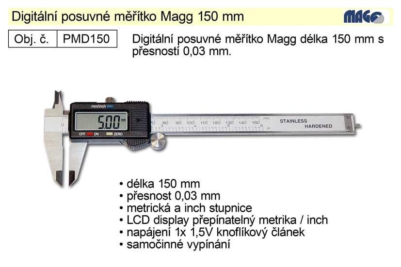 Posuvné měřítko digitální Magg 150mm