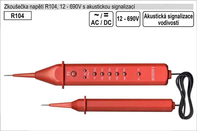 Zkoušečka napětí  AC/DC 12-400V s testem vodivosti
