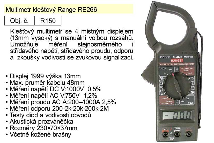 Multimetr klešťový Range RE266