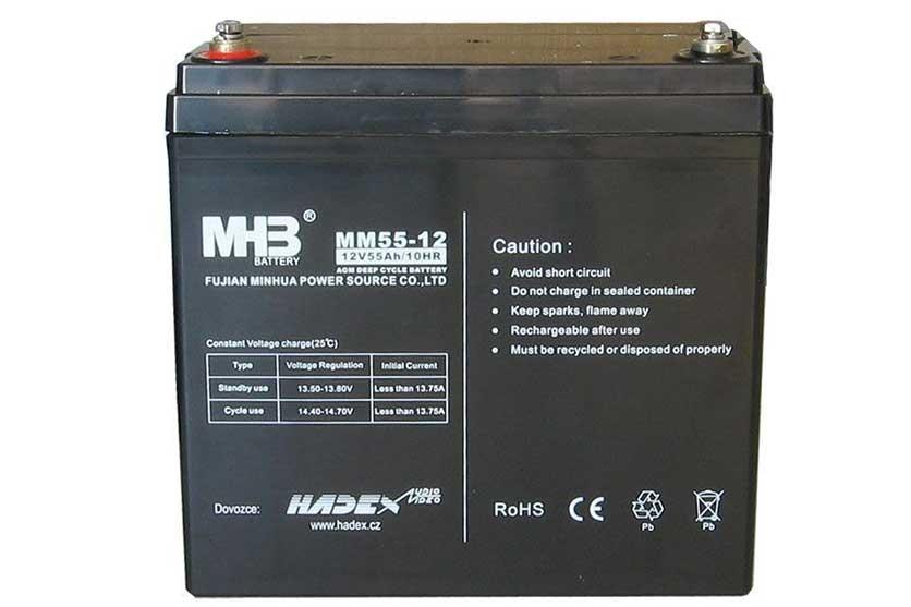 Olověný gelový polotrakční akumulátor 12V / 55Ah