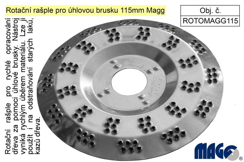 Rotační rašple pro úhlovou brusku 115mm Magg