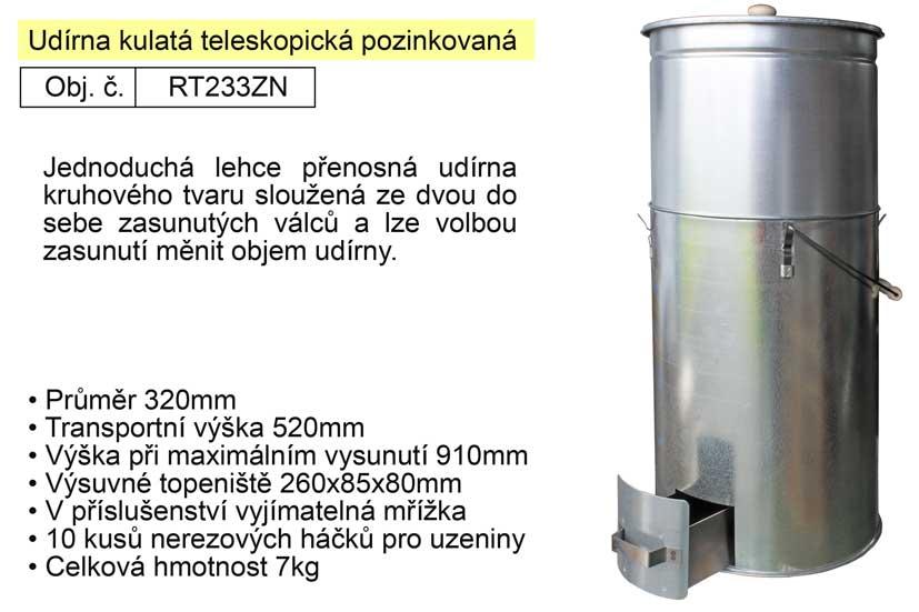 Udírna kulatá teleskopická pozinkovaná