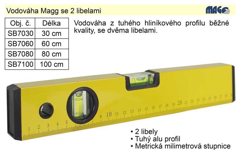 Vodováha Magg 1000mm 2 libely