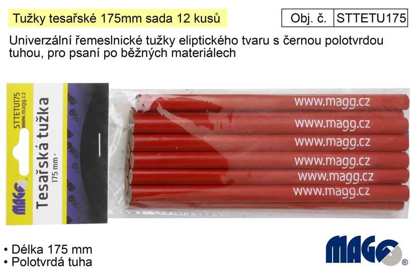 Tužky tesařské 175mm sada 12 kusů