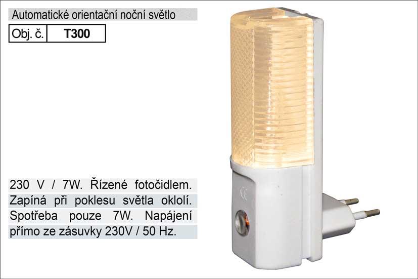 Světlo do zásuvky s fotočidlem 230V/7W
