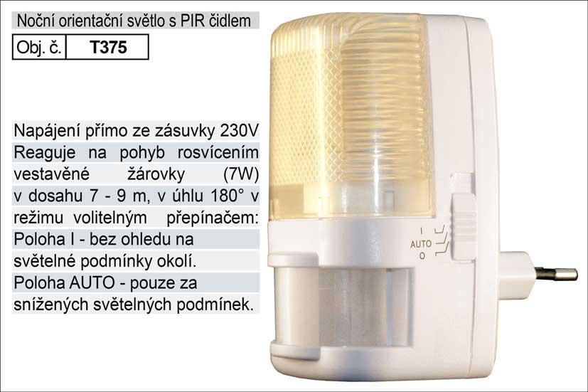 Světlo do zásuvky s pohybovým čidlem 230V/7W