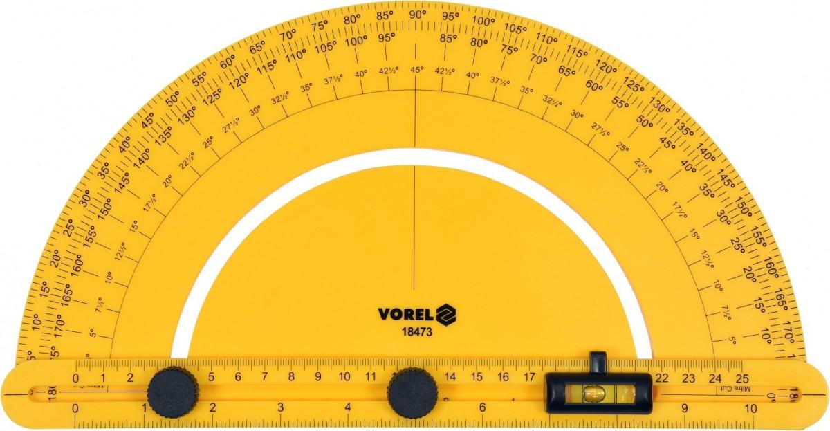 VOREL Úhloměr s vodováhou 250 mm