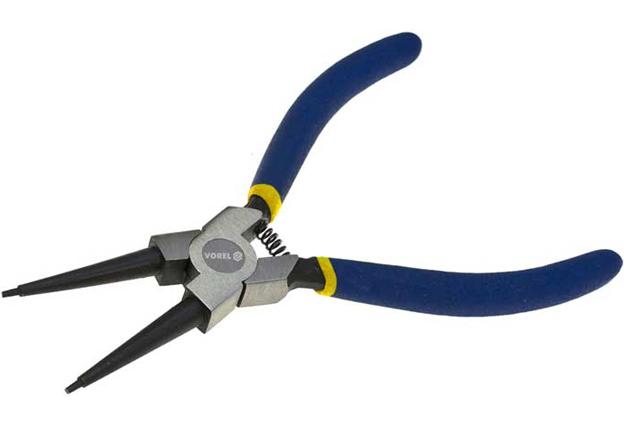 Kleště VOREL na pojistné kroužky 200 mm vnitřní přímé
