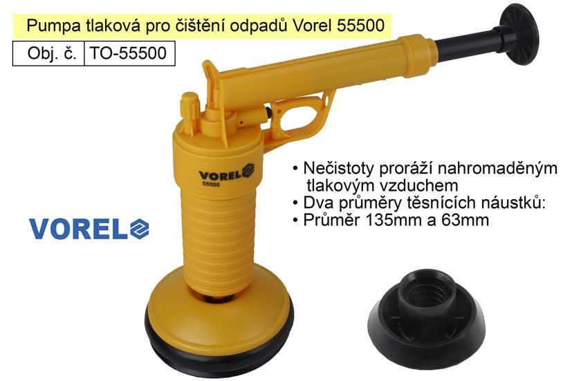 Pumpa tlaková pro čištění odpadů Vorel 55500